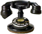 Telephone Archive logo Western Electric antique rotary dial telephone