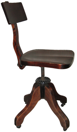 office chair circa 1900 manufactured by cook see cook co history this amazing old swivel chair has the original cast iron hardware and is fully antique office chair