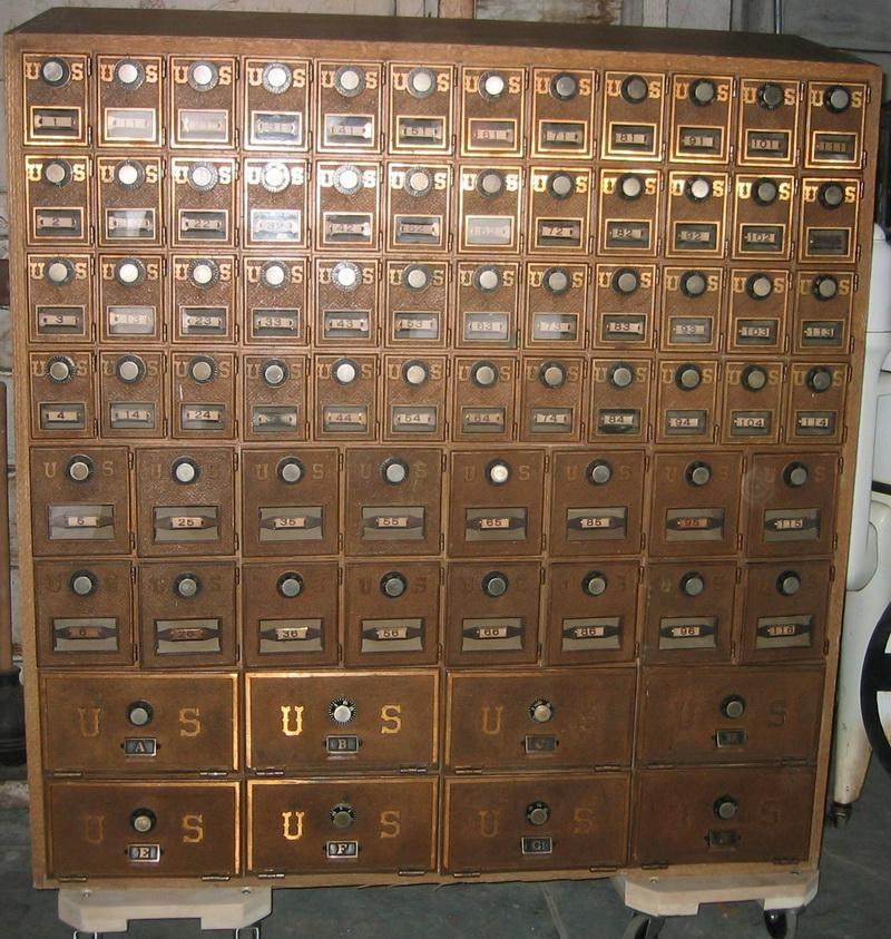 Beau Post Office Boxes Vintage Image