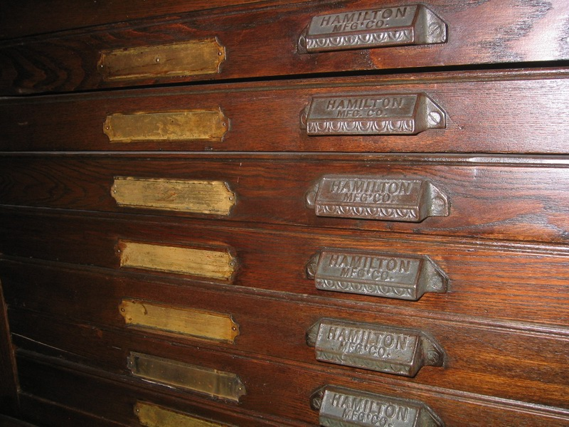 Antique Hamilton Manufacturing Printers Cabinet - Dave's Archive ...