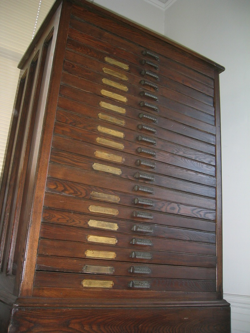 Antique Hamilton Manufacturing Printers Cabinet - Dave's Archive ...