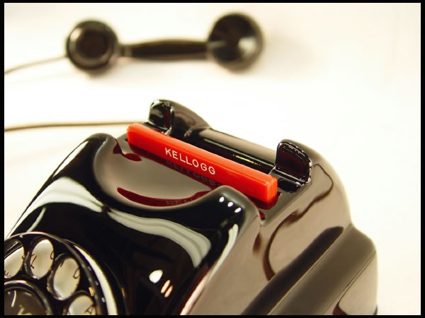 Kellogg Masterphone 1000 Redbar - Telephonearchive.com - Rotary Dial on