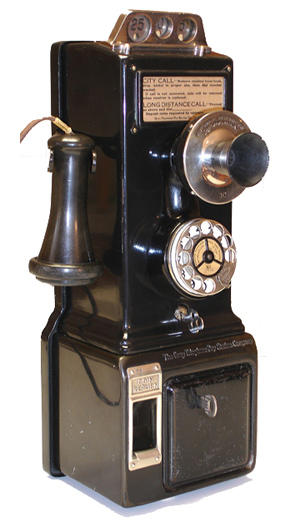 Gray telephone pay for sale vintage