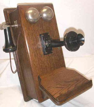 Western Electric 317P Wood Phone Telephonearchive com