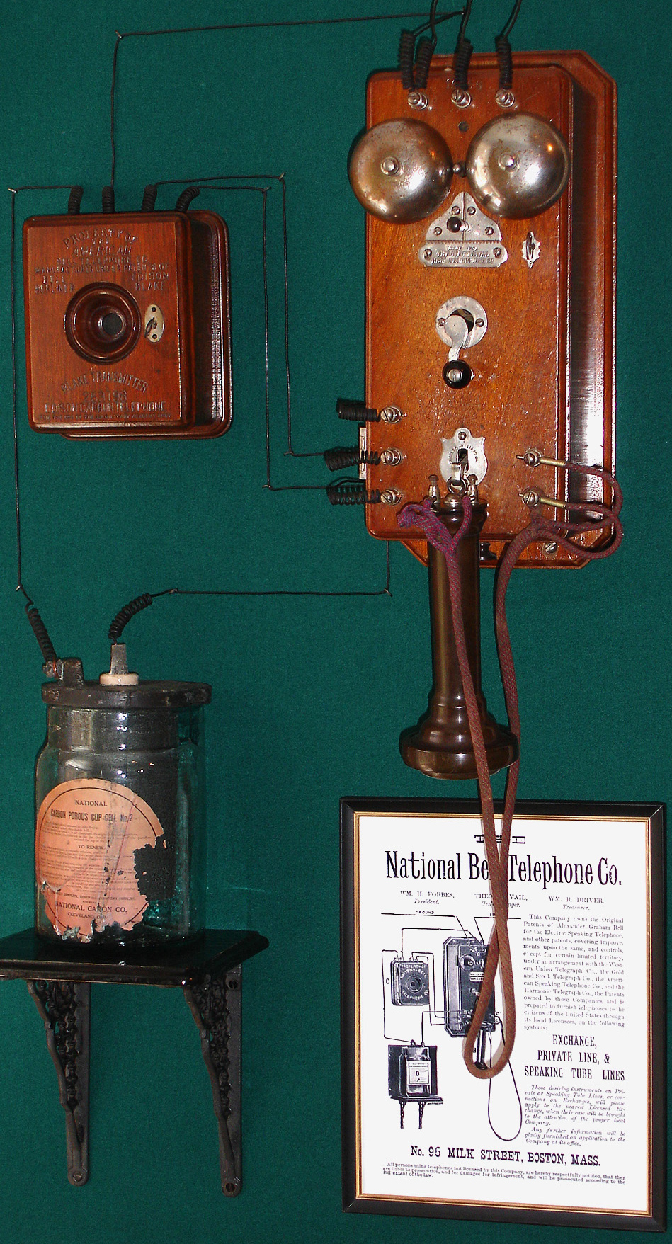National Bell 1879 Coffin Phone Telephonearchive Com